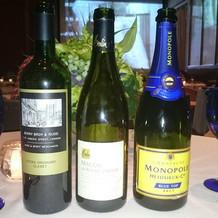 選んだシャンパンとワイン