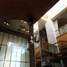 ドレスでの入場に使用した階段