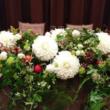 高砂の花はクリスマスをイメージ