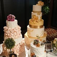 段ケーキのサンプル