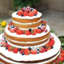 ケーキもとても可愛かったです。