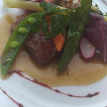 旬の野菜とお肉