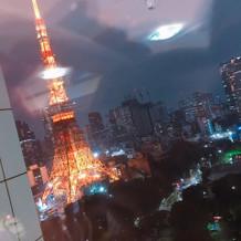 東京タワーを含む夜景を一望