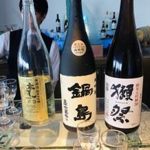 美味しい日本酒を持ち込みました