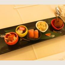 前菜 (筍やわらびなど旬の食材が豊富)