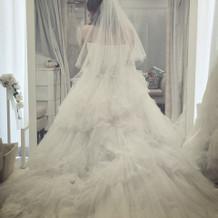 シンデレラの形のドレス これを着ました