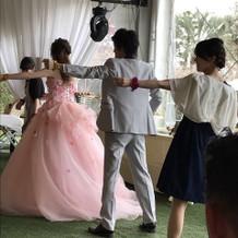 お色直し後のダンス