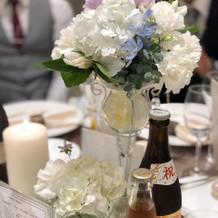 希望通りのグラス2つのお花。