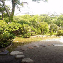 茶室からの風景
