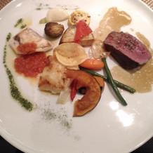 肉と魚料理