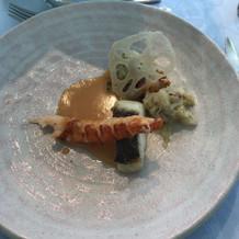 オマール海老と真鯛
