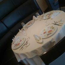 テーブル お皿も素敵