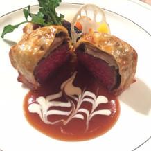 メインのお肉。感激の美味しさでした。
