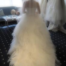 ウェディングドレスはフワフワで素敵でした