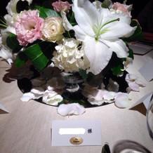テーブル装花はカサブランカでした!