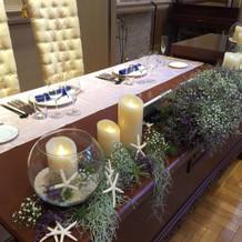 メインテーブル装飾