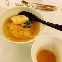 ご飯 出汁スープと共に