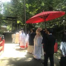 金鑚神社での挙式風景です