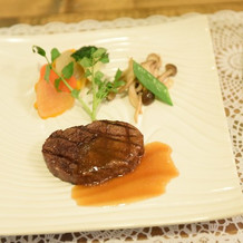 国産牛と網焼きの温野菜
