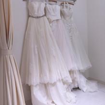 試着したウェディングドレス