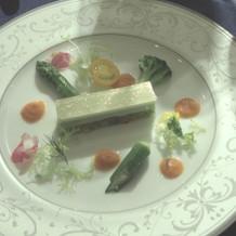 野菜のガトーオペラ風