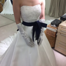 決めたドレスです。