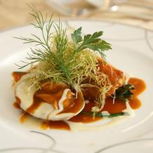 魚料理は金目鯛ポアレと蒸し蛤