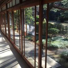 お庭のみえる素敵な廊下