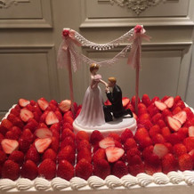 本番ケーキ。飾りは自分達で用意