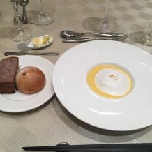 安納芋のポタージュも美味しかったです。