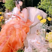 テーブルがないとドレスがよく見えます