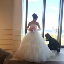 ドレスも外の景色も最高でした!