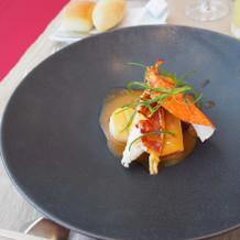 オマール海老 金目鯛 赤キャベツ