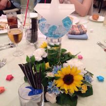 ゲストテーブルにお星様のキャンドル☆