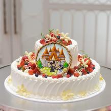 ミッキー&ミニーのウェディングケーキ