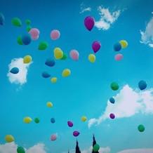 風船を飛ばす演出が可愛かったです。
