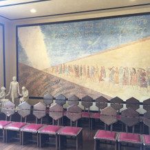 修復時に発掘された壁画