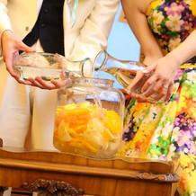 ゲストと作る果実酒