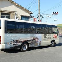 このバスで移動してきました。