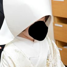綿帽子か角隠しか選べました。