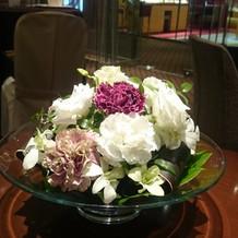 宿泊部屋に会場装花の一部をプレゼント