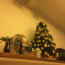 クリスマスが近く、飾ってありました
