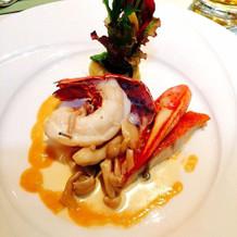 オマール海老はとても美味しかったです。