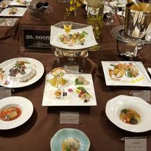 展示会の料理