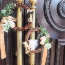チャペルに飾ってもらった手作りアイテム。