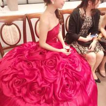 二次会でお借りしたカラードレス