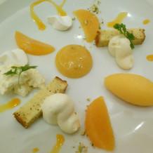 オレンジのデザート