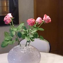 ブライダルサロンのお花もオシャレ