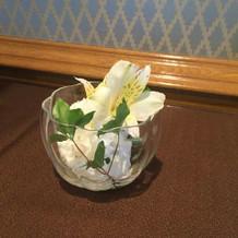 待合室にもお花が飾られていたそうです