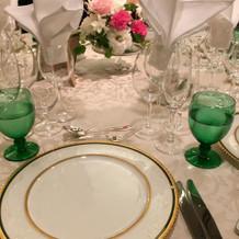 開宴前のテーブルセット